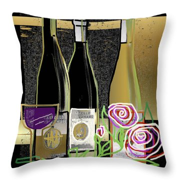Days Of Wine And Roses Throw Pillow