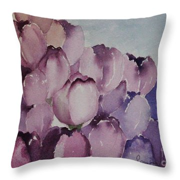 Days Of Wine And Tulips Throw Pillow