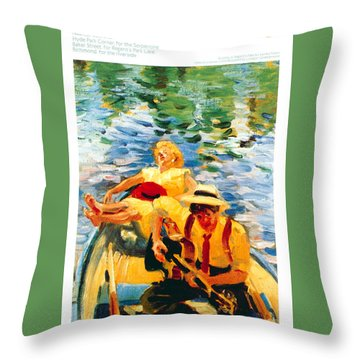Days On The Water - Hyde Park Corner - London Underground - Retro Travel Poster - Vintage Poster Throw Pillow