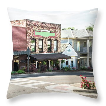 Throw Pillow featuring the photograph Daytime In Old Town Helena by Parker Cunningham