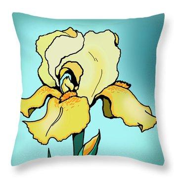 Daytime Iris Throw Pillow