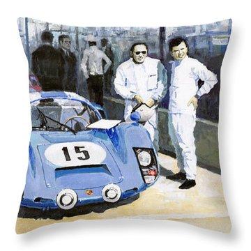 Daytona 1966 Porsche 906 Herrmann-linge Throw Pillow