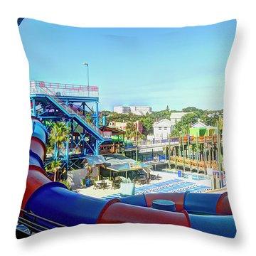 Daytona Lagoon Throw Pillow