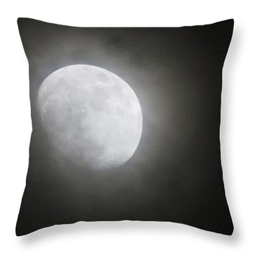 Daytona Moon Throw Pillow by Kathy Long