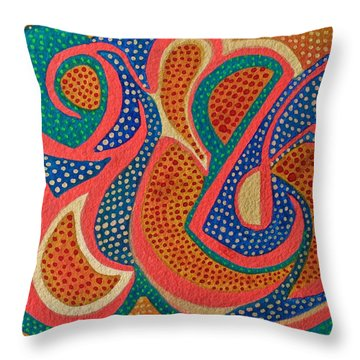 Dotted Motif Throw Pillow