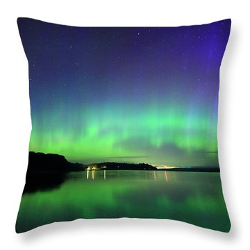 Dazzling Northern Lights  Throw Pillow