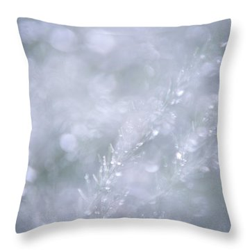 Throw Pillow featuring the photograph Dazzling Silver World by Jenny Rainbow