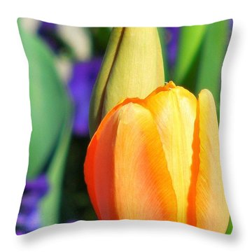 Dazzling Tulip Throw Pillow
