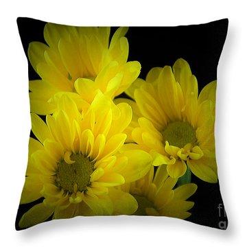Dazzling Yellow Throw Pillow