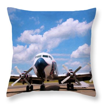 Throw Pillow featuring the digital art Dc 7 by Chris Flees