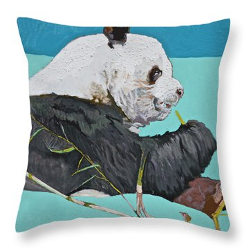 Dc Panda Throw Pillow by Jamie Downs