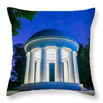 Dc War Memorial Throw Pillow