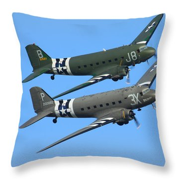 Dc3 Dakota C47 Skytrain Throw Pillow