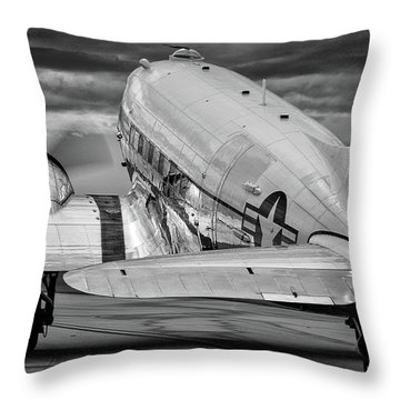 Dc3 Taxiing For Departure Throw Pillow