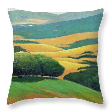 Ddark Trees Throw Pillow