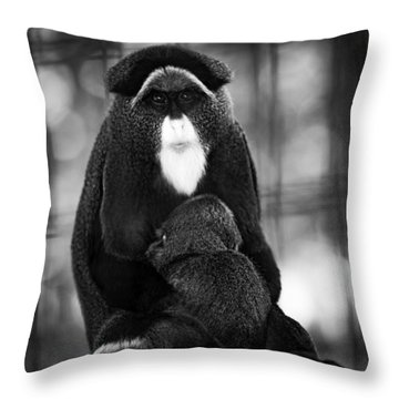 De Brazza's Monkey Throw Pillow