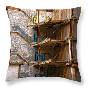 De-construction Throw Pillow