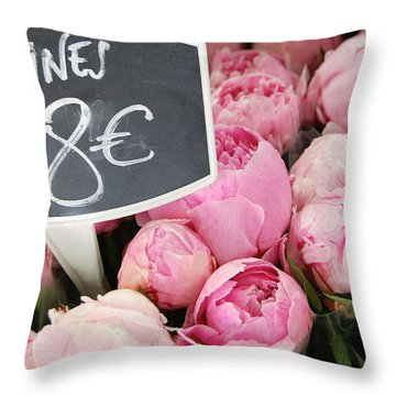 De Couleur Rose Throw Pillow by JAMART Photography