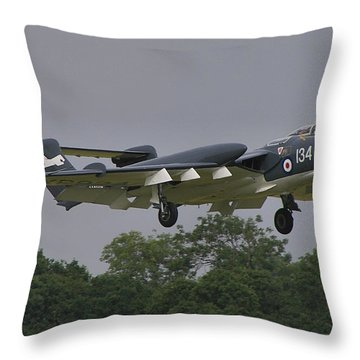 Throw Pillow featuring the photograph De Havilland Dh110 Sea Vixen  by Tim Beach