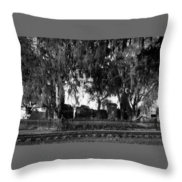 De La Ronde Plantation Home Ruins Throw Pillow