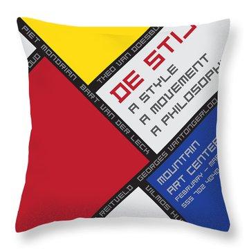 Throw Pillow featuring the digital art De Stijl by Chuck Mountain