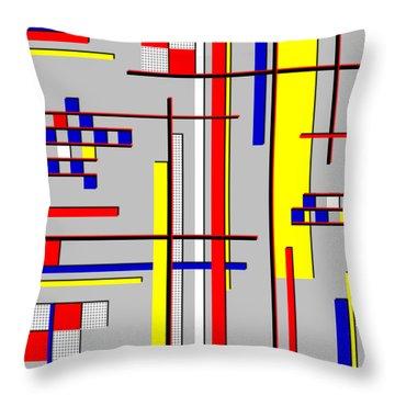 De Stijl Love Throw Pillow by Tara Hutton