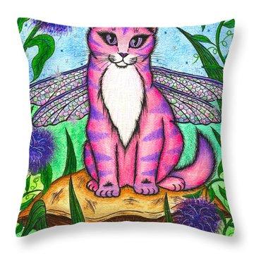 Dea Dragonfly Fairy Cat Throw Pillow