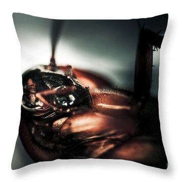 Dead Cockroach Throw Pillow