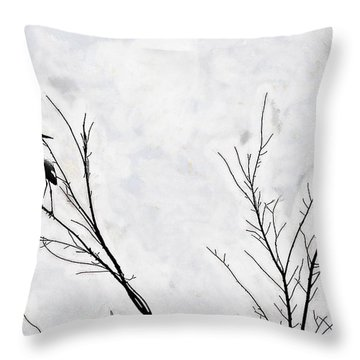 Dead Creek Cranes Throw Pillow