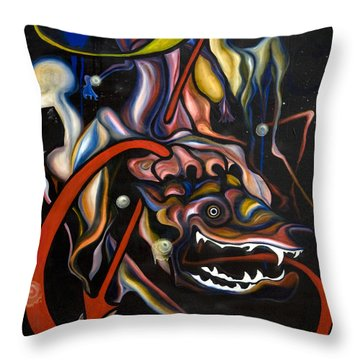 Dead Dog Throw Pillow