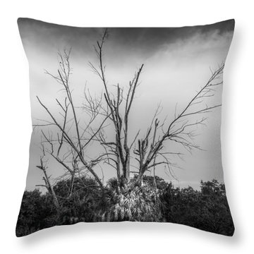 Dead End B/w Throw Pillow