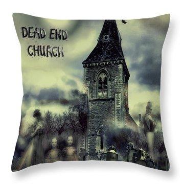 Dead-end Church Throw Pillow