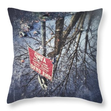 Dead End Throw Pillow by RKAB Works