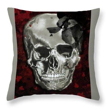 Dead Fancy Skull Throw Pillow