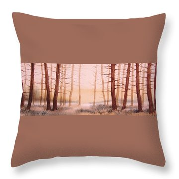 Dead Forest Throw Pillow by Kevin Heaney