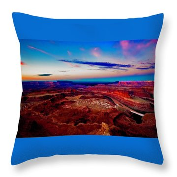 Dead Horse Point Throw Pillow