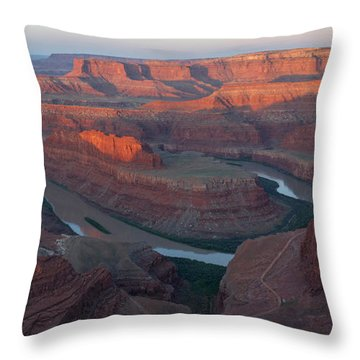 Throw Pillow featuring the photograph Dead Horse Point Panorama by Aaron Spong