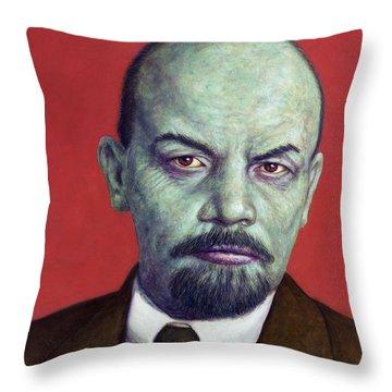 Dead Red - Lenin Throw Pillow