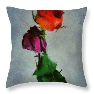 Throw Pillow featuring the digital art Dead Roses by Francesa Miller