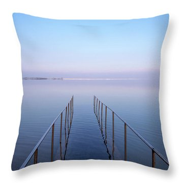 The Dead Sea Throw Pillow by Yoel Koskas