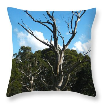 Dead Tree Throw Pillow