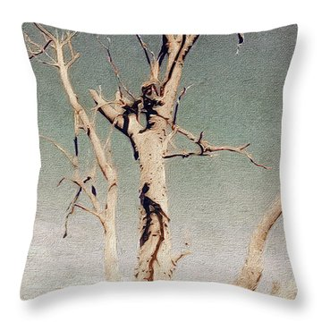 Dead Tree, Outback. Throw Pillow