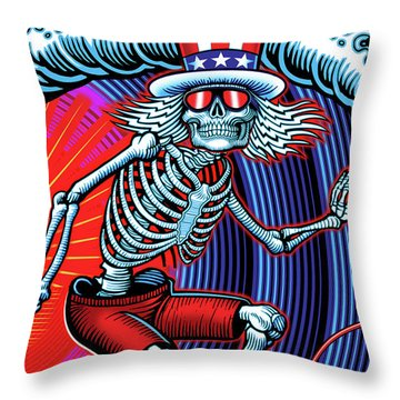 Deadhead Throw Pillows