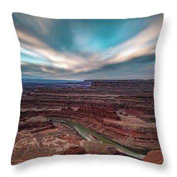Deadhorse Point Sunrise Throw Pillow