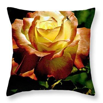 Deadly Beauty Throw Pillow