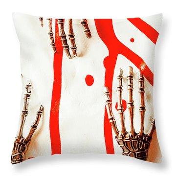 Deadly Design Throw Pillow