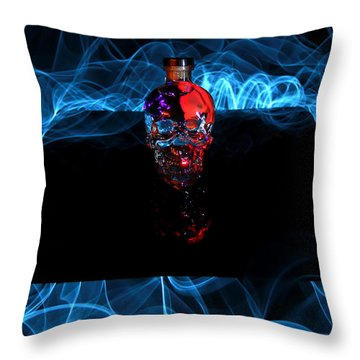 Deadly Drinks Throw Pillow by Roddy Atkinson