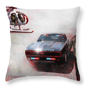 Deadly Pursuit Throw Pillow by Michael Cleere