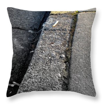 Throw Pillow featuring the photograph Deadly Smoke by Marie Neder