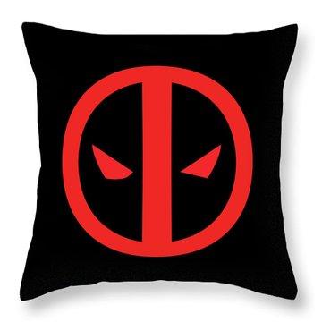 Deadpool Throw Pillow by Caio Caldas